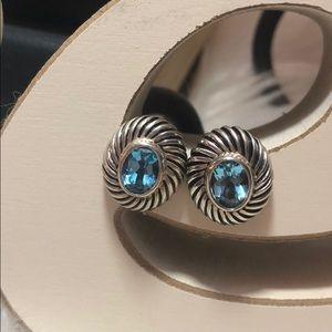 Jewelry - Sterling Silver Blue Zircon Earrings